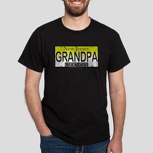 Grandpa NJ Vanity Plate Black T-Shirt