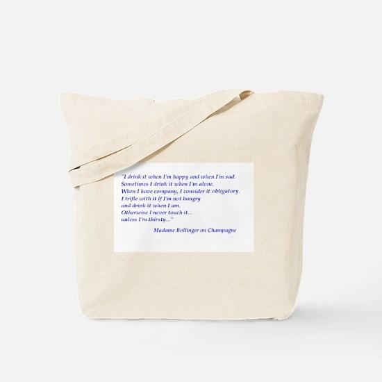 Madame Bollinger on Champagne Tote Bag