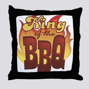 King Of The Barbecue Throw Pillow