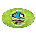 Earth Day Sticker (Oval)