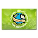Earth Day Sticker (Rectangle)