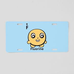 Cute Element Fluorine F Aluminum License Plate