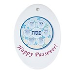 Passover Dish Oval Ornament