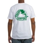 Green Surfers Fitted T-Shirt