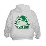 Green Surfers Kids Hoodie