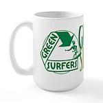 Green Surfers Large Mug