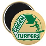Green Surfers Magnet