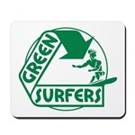 Green Surfers Mousepad