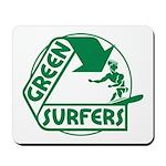 Green Surfers Mousepad