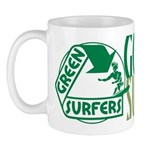 Green Surfers Mug