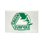 Green Surfers Rectangle Magnet (10 pack)