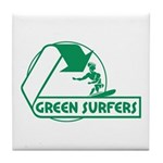 Green Surfers Tile Coaster
