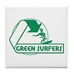 Green Surfers Tile Coaster