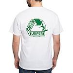Green Surfers White T-Shirt