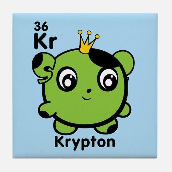 Cute Element Krypton Kr Tile Coaster