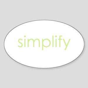 simplify Oval Sticker