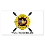 Fire Paddle Sticker (Rectangle 50 pk)