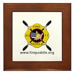 Fire Paddle Framed Tile