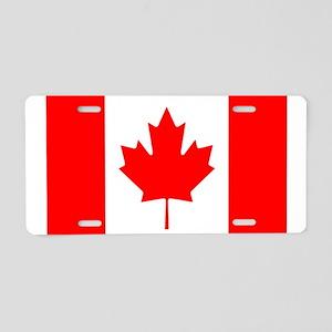 Canada Flag Aluminum License Plate