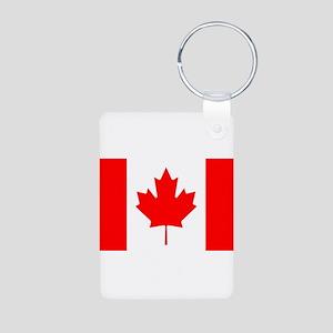 Canada Flag Aluminum Photo Keychain