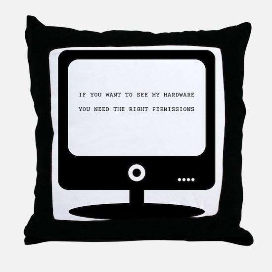 Cute Web development Throw Pillow