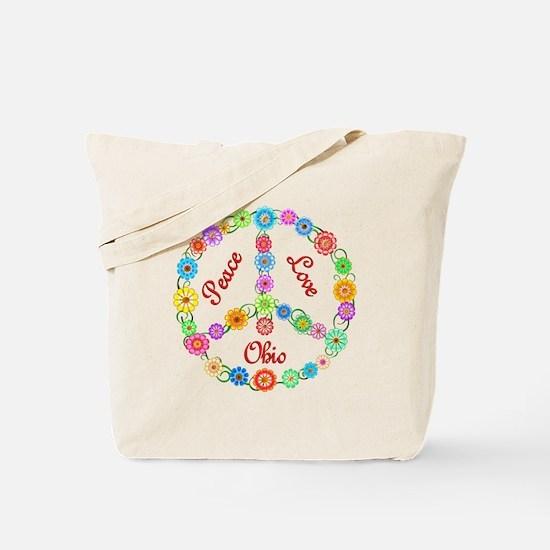 Peace Love Ohio Tote Bag