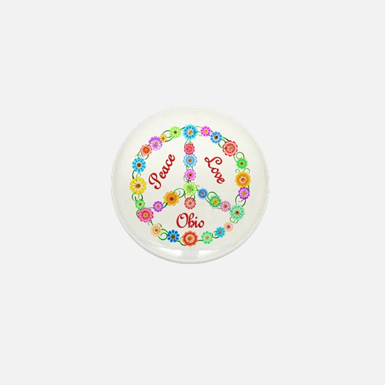 Peace Love Ohio Mini Button