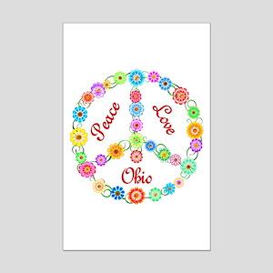 Peace Love Ohio Mini Poster Print