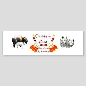 """Oneida"" Bumper Sticker"