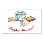 Passover Table Rectangle Sticker