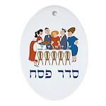 Seder Pesach Oval Ornament