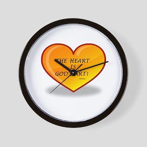 The Heart Is God's Art Wall Clock
