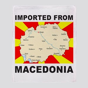 Throw Blanket Imported from Macedonia Map