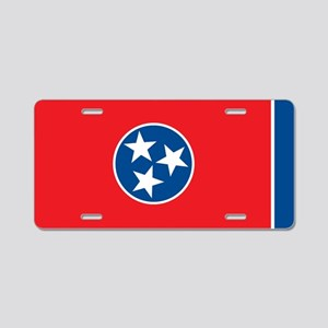 Tennessee State Flag Aluminum License Plate
