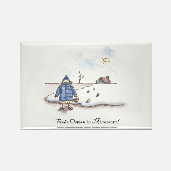 Frohe Ostern in Minnesota! Rectangle Magnet