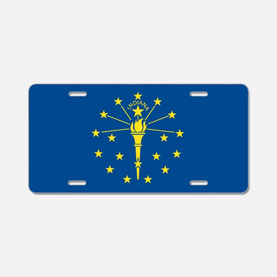 Indiana State Flag Aluminum License Plate