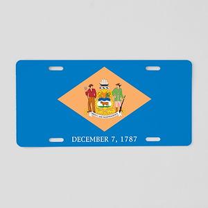 Delaware State Flag Aluminum License Plate
