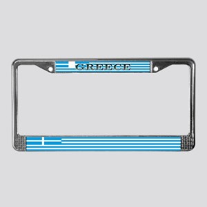 Greece Greek Blank Flag License Plate Frame