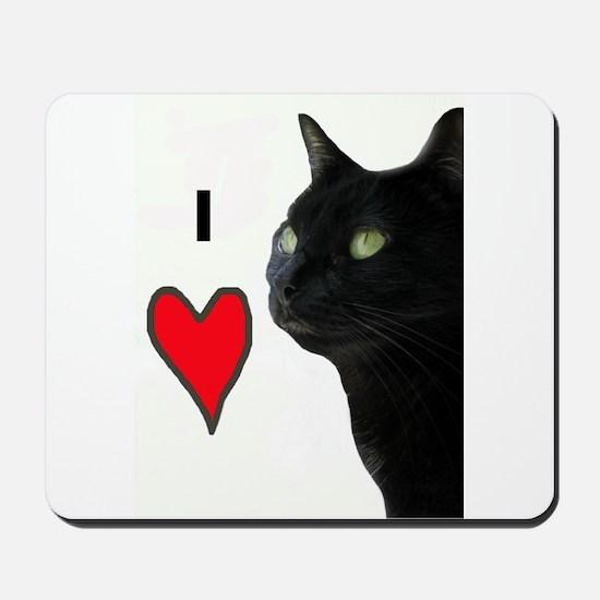 I Love Cats Mousepad