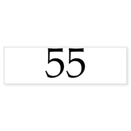 55 Sticker (Bumper)
