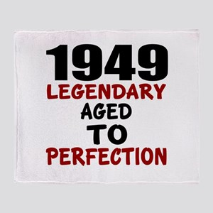 1949 Legendary Aged To Perfection Throw Blanket