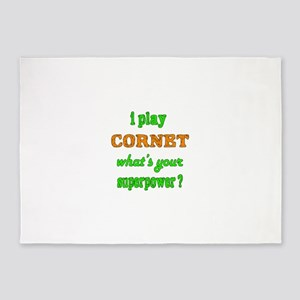 I play Cornet what's your superpowe 5'x7'Area Rug