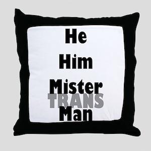 Mister TransMan Throw Pillow