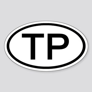TP - Initial Oval Oval Sticker