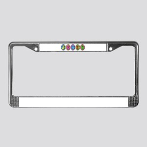 JESUS Eggs License Plate Frame