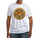 Yellow Triple Goddess Pentacle Fitted T-Shirt