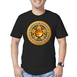 Yellow Triple Goddess Pentacle Men's Fitted T-Shir