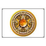 Yellow Triple Goddess Pentacle Banner