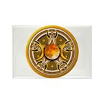 Yellow Triple Goddess Pentacle Rectangle Magnet