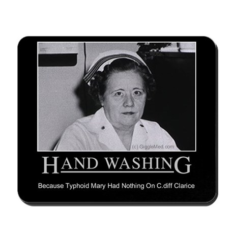 60th Anniversary Gifts >> Infection Control Humor 02 Mousepad by gigglemed
